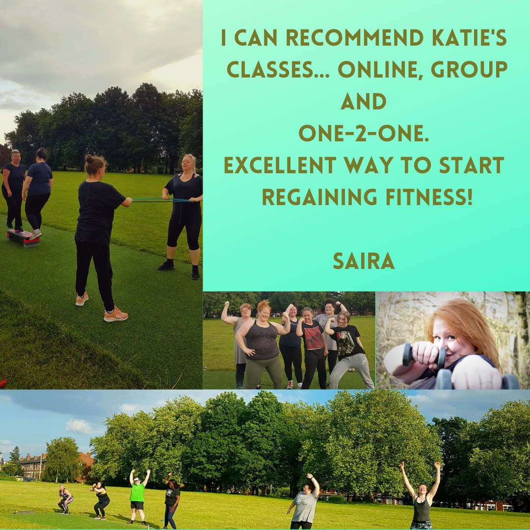 I can recommend Katie's classes... online, group and oneone. Excellent way to start regaining fitness!